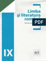 Limba romana - Clasa 9 - Manual - Adrian Costache