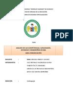 AANALISIS DE LAS COMPETENCIAS, CAPACIDADES, ESTANDAR Y DESEMPEÑOS (1)