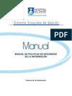MANUAL DE POLITICAS DE SEGURIDAD DE LA INFORMACION