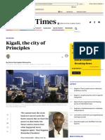 Kigali, the city of Principles