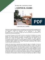 HISTORIA DEL CANTÓN EL GUABO