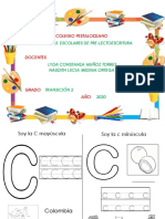 Actividades de la consonante C y la receta.