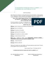 CONVOCATORIA DEL CTE. DVO DEL CINLAC - 2011