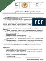TP N°02 Tamisage de poudres « Analyse granulométrique »