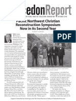 The Chalcedon Report Oct 19 Newsletter