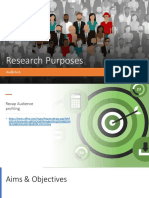 research purposes audience