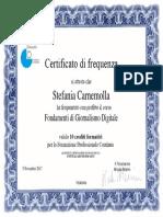 Certificato Di Frequenza Fondamenti Di Giornalismo Digitale