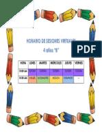 HORARIO DE SESIONES VIRTUALES