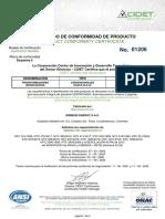 01206 Monofasicos. Convensionales. S. 15-34,5 kV. De 3-100 kVA