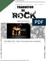 THE BEATLES - Dig A Pony [traducida al español] - EL TRADUCTOR DE ROCK