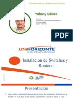 Instalacion de Switches y Routers