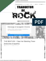 THE BEATLES - I Saw Her Standing There [traducida al español] - EL TRADUCTOR DE ROCK