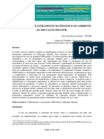 Artigo - ALFABETIZAÇÃO E LETRAMENTO MATEMÁTICO