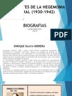 PRESIDENTES DE LA HEGEMONIA LIBERAL (1930-1942)