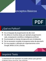 Python - Conceptos Básicos