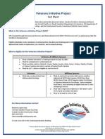 Veterans Initiative Project Fact sheet