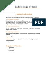 Bitácora Psicología General