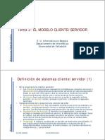 El Modelo Cliente Servidor - Universidad de Valladolid