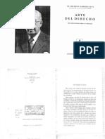 Carnelutti, Francesco - Arte del Derecho - Seis Meditaciones sobre el Derecho