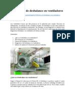 Diagnóstico de desbalance en ventiladores