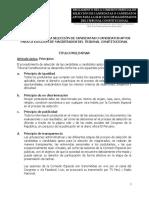 Reglamento de La Comisión Especial de Selección de Candidatas o Candidatos aptos para la elección de Magistrados del TC