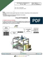 Devoir de Contrôle N°2 2ème Semestre - Génie mécanique un palettiseur - Bac Technique (2018-2019) Mr Dhifaoui Abdelwaheb
