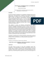Conflictos territoriales y patrimoniales en el pesebre de oro de colombia