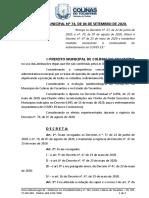 Decreto 74-2020 - Novas regras - COVID-19