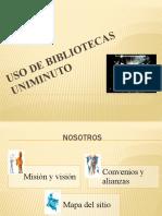 USO DE BIBLIOTECAS UNIMINUTO