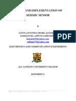 DESIGN AND IMPLEMENTATION OF SEISMIC SENSOR