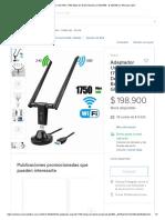 Adaptador Usb Wifi, 1750 Mbps De Doble Banda 2,4 Ghz_450 - $ 198.900 en Mercado Libre