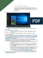 Create Windows 10 installation media.docx
