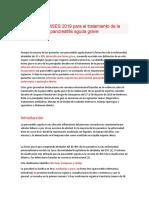 Guías de WSES 2019  pancreatitis aguda grave