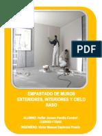 EMPASTADO DE MUROS Y CIELO RASO