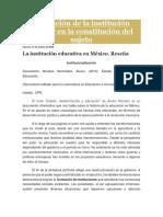 """""""Estado, modernización y educación-RESEÑA"""