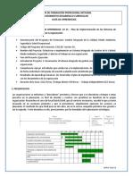 GT 15 Plan de implementación de los SG según req