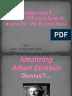 Idealizing Albert Einstein