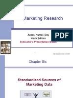 Standardized Sources of Marketing Data