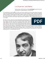 Jim Thomas - A history of Economics at LSE part two – post-Robbins