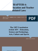 Other Education and Teacher Related Laws