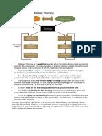 Characteristics of Strategic Planning