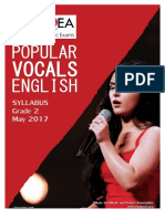 Popular Vocals English Grade 2