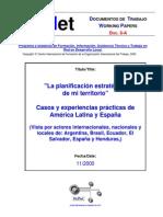 modelo de Planificación estrategica del municipio (Amer Latina)