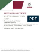 Final Audit Report  A V Steel  SA1