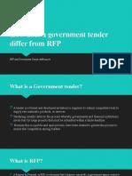 RFP vs Tender