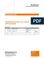 Recertification of Type B Appliances