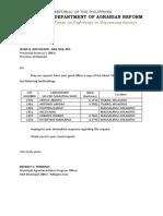 Letter Request (Provincial Assessors) Tax Dec