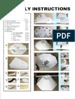 Parabolic Reflector assembly instructions
