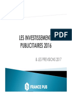 La répartition des investissements publicitaires par média