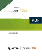 Mitel 4025 User Guide